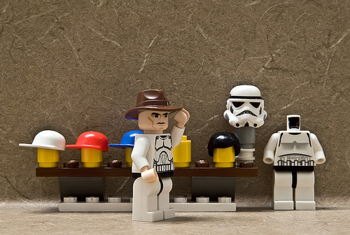 It was TK-784's day off, which meant one thing: cowboy hat. (Image: legomyphoto.wordpress.com)